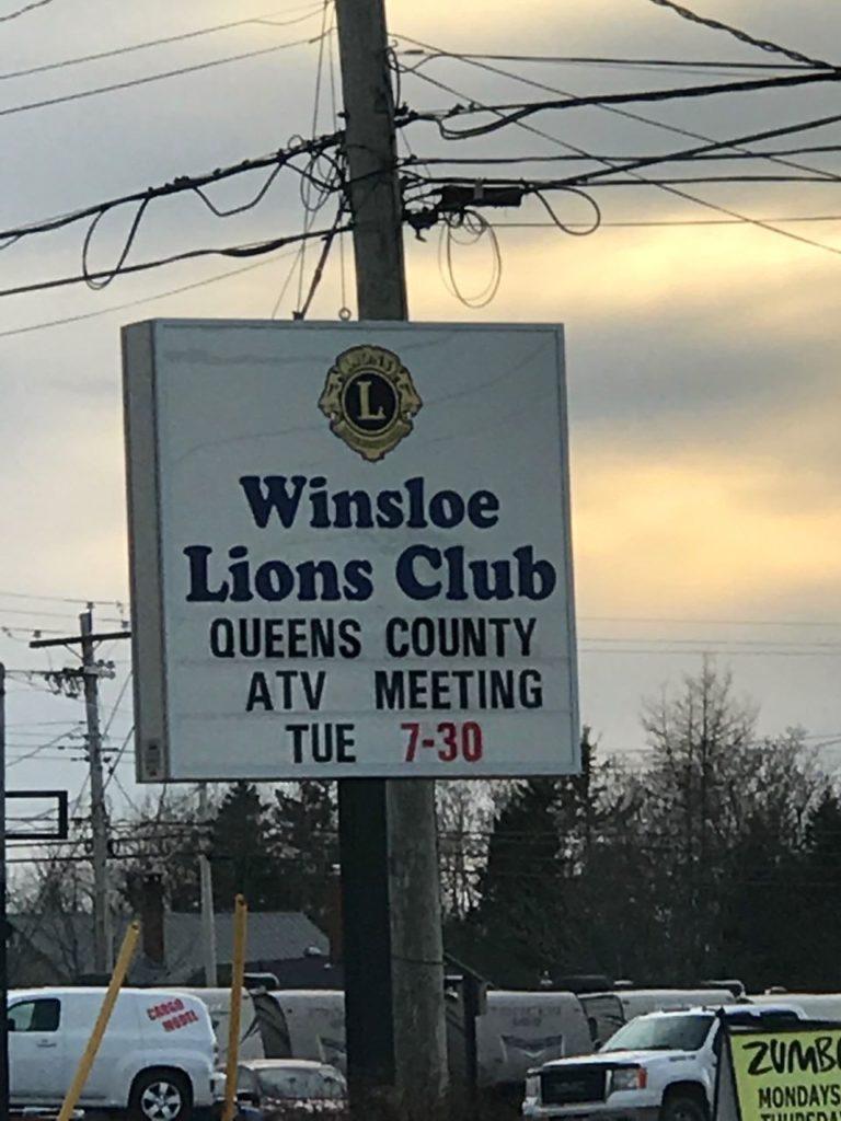 Winsloe Lions Club Sign
