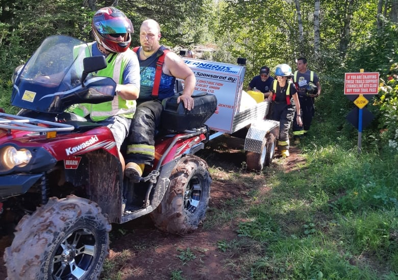 Firefighters use new ATV trailer for accident rescue