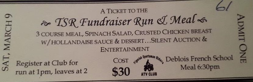 TSR FundRaiser March 9th