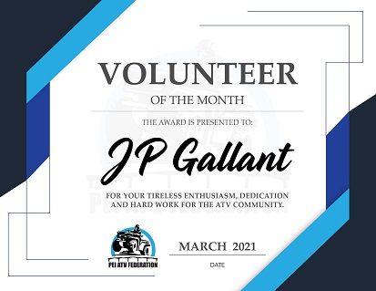 March 2021 – Volunteer of the Month