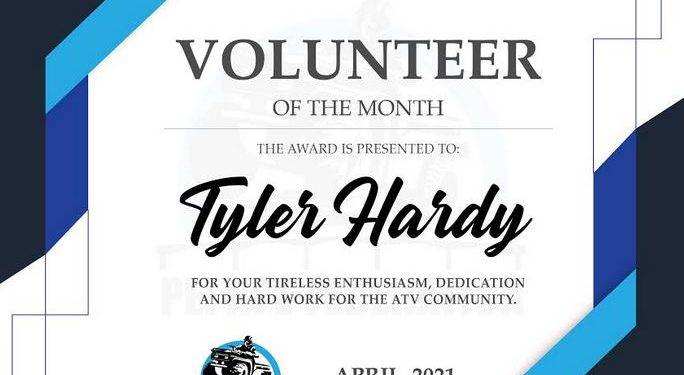 Volunteer of the Month for April 2021